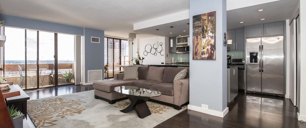 Center City One Condos - 1326 Spruce St. - Living Room