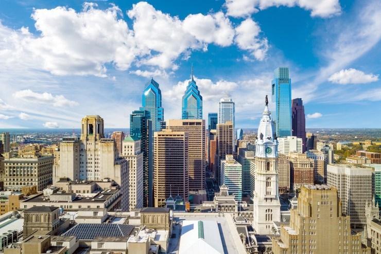 View of the Philadelphia skyline