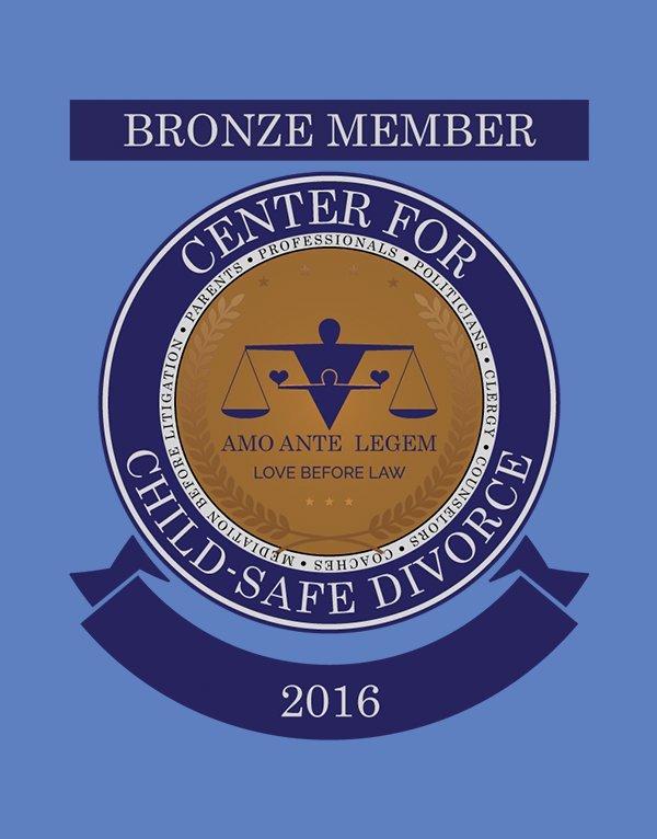 Center for Child-Safe Divorce - Bronze Member Cart Crest