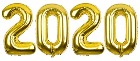 Golden 2020 balloon