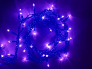 String of purple hued light