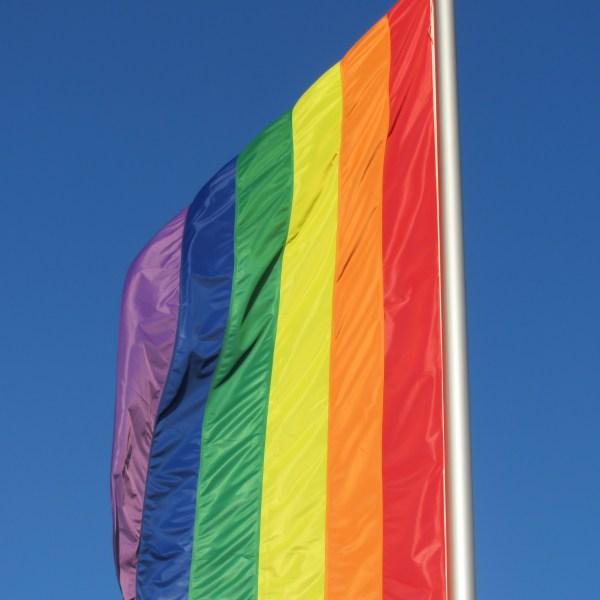 Rainbow flag to honor the LGBTQ community