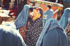 In Herat, some women wear the light blue chadri, but many also opt for the Iranian chador, a long billowing veil in black or somber-patterned fabric.
