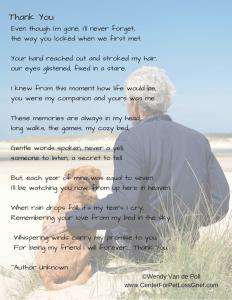 Pet Loss Poem Thank You