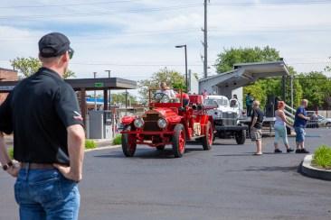 Don Nicholson watching the Center Line Fire Truck