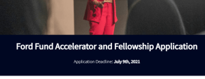 Apply Now: Ford Fund Fully-Funded fellowship 2021