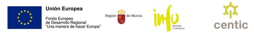 Logos convenio Info Fondos Feder Fondos Región de Murcia