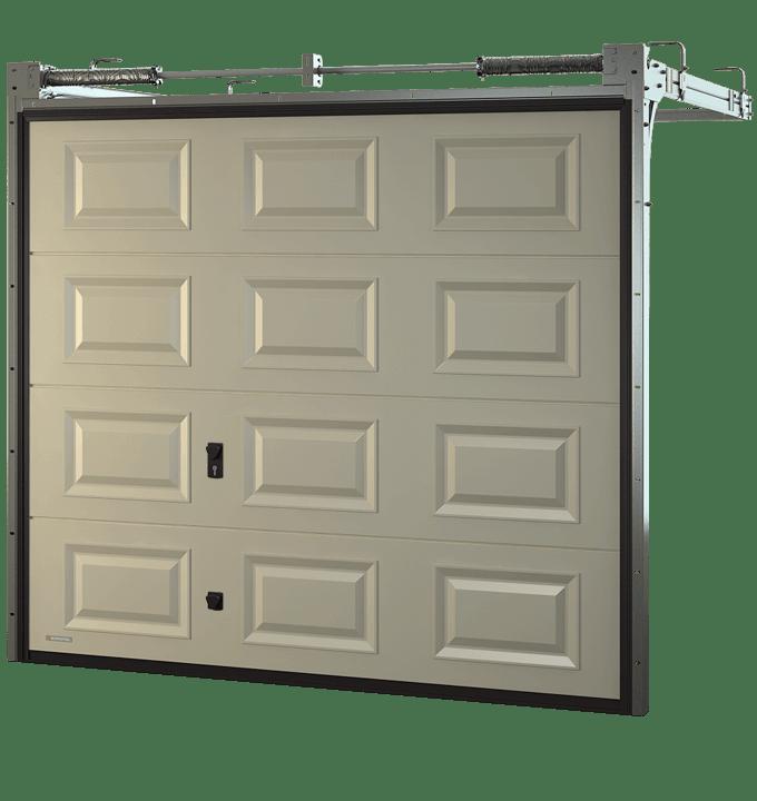 Porte de garage sectionnelle cassette