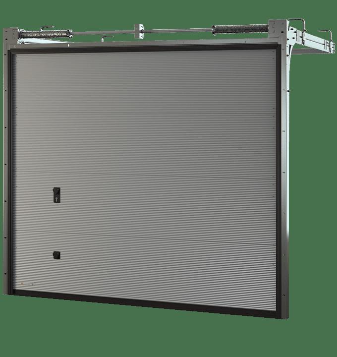Porte de garage sectionnelle microligne
