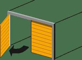 Porte de garage sur mesurebattante