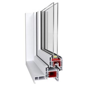 Fenêtre PVC Alusplast IDEAL 4000 monobloc