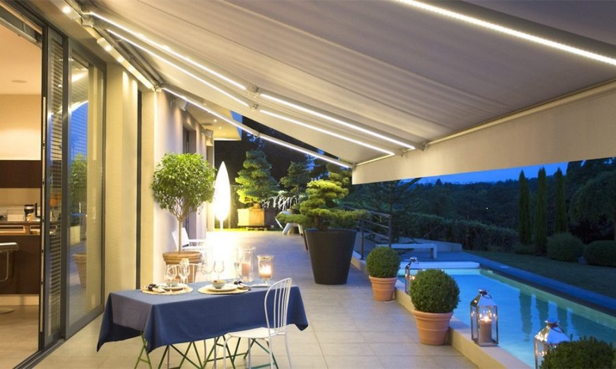 Terrasse, balcon, jardin, véranda, fenêtre