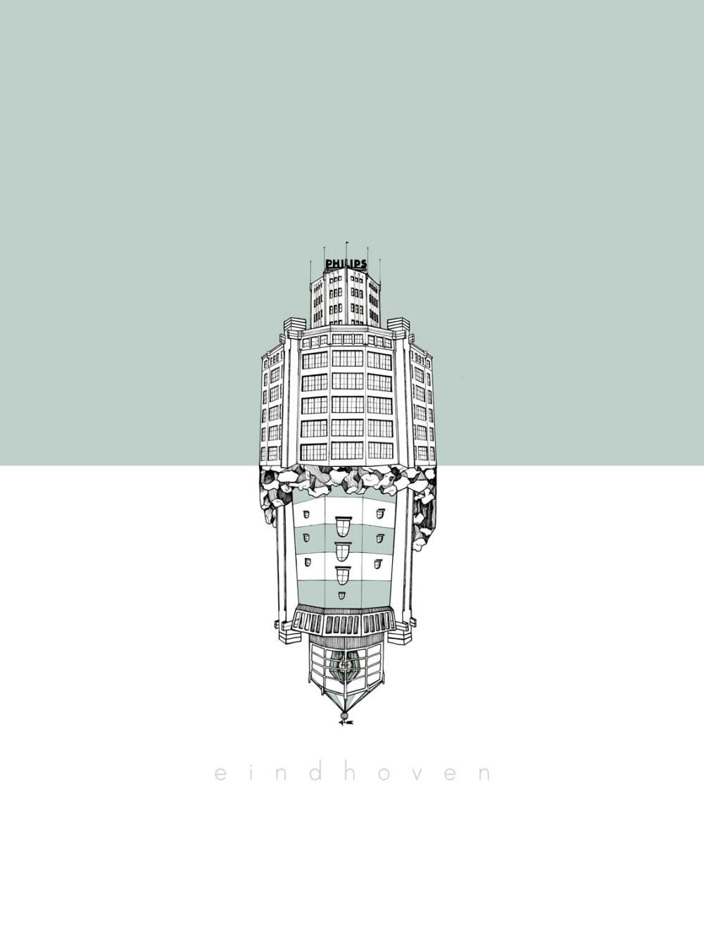 Centprent_eindhoven_illustratie_1500px_lichttoren