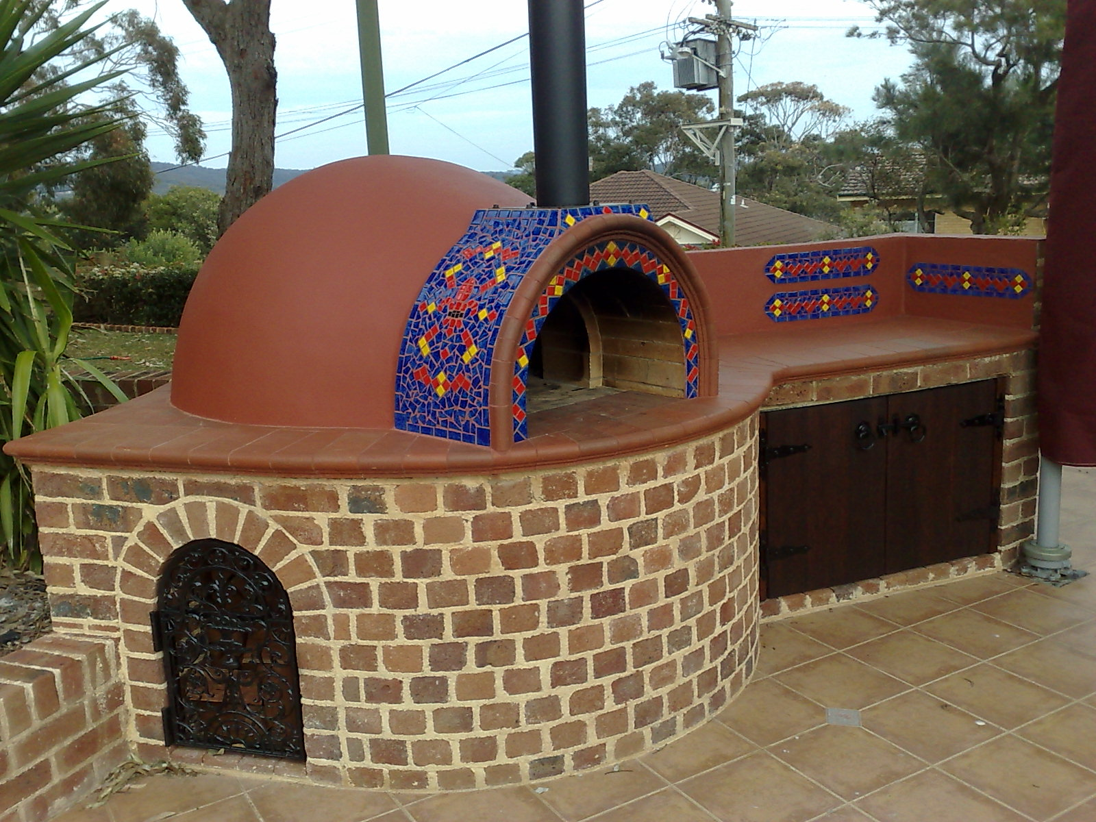 beautiful custom pizza oven pizza oven court yard construction central coast