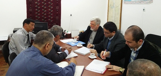 Meeting with officials from the Mary provincial branch of the State Environment Protection and Land Resources Committee