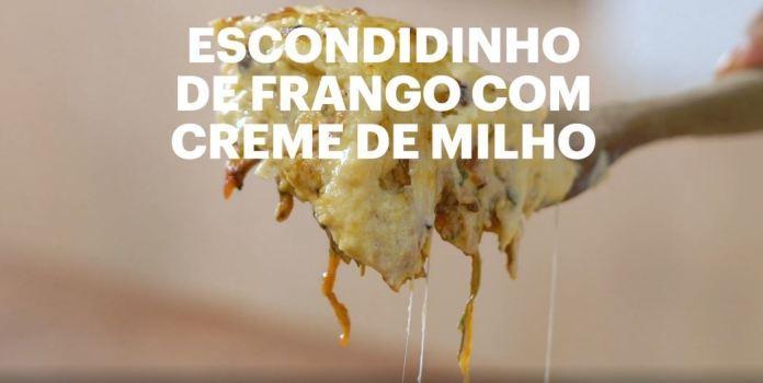 Escondidinho de Frango com Creme de Milho