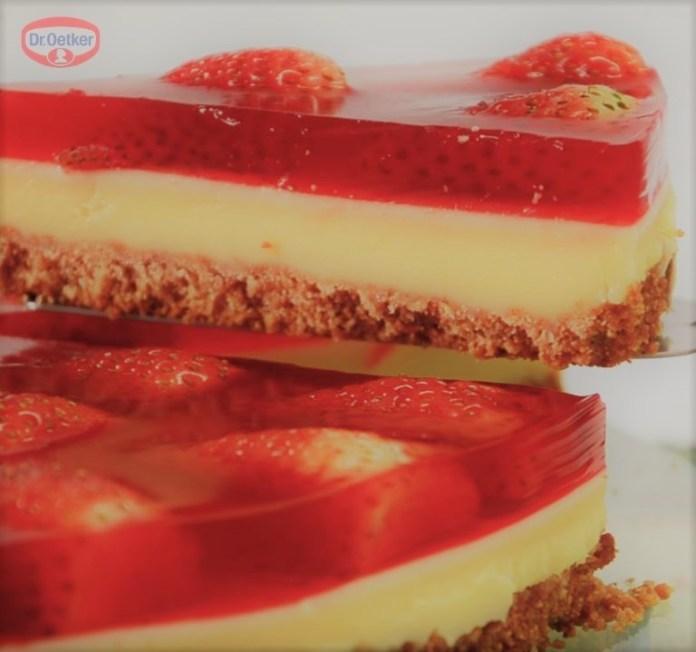 Torta de Morango com Gelatina