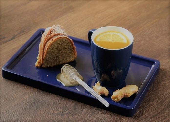 Chá com Gengibre Mel e Limão