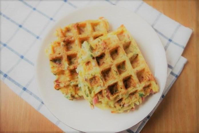 Waffle de batata