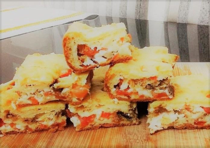 Torta de Sardinha e Legumes