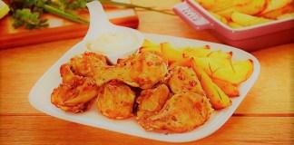 Frango à passarinho frito