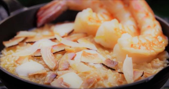 risoto de camarão