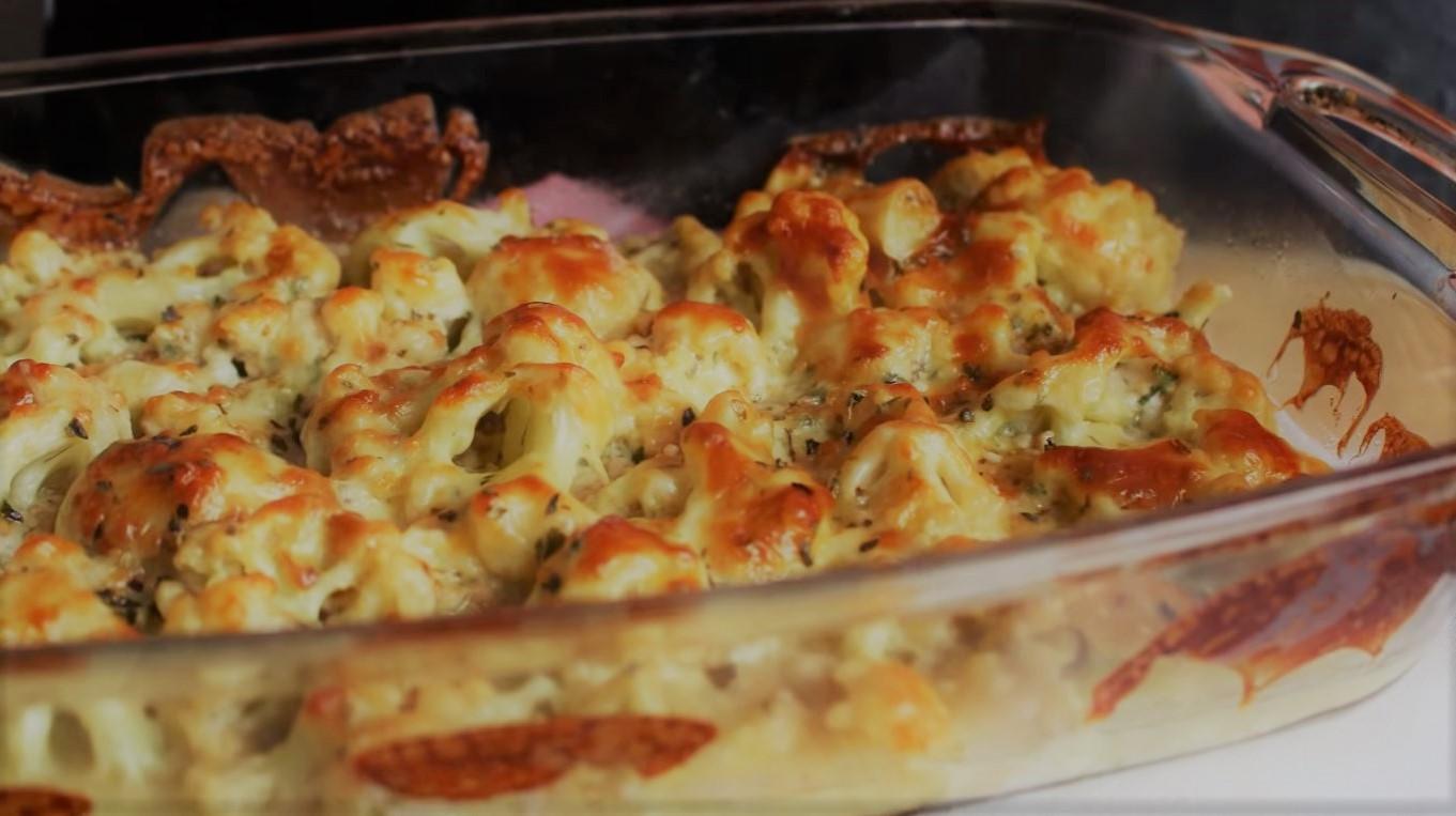 couve-flor gratinada com queijo