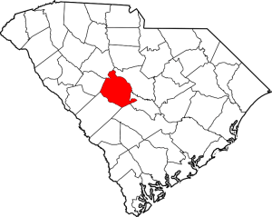 Lexington County Outline Map of South Carolina