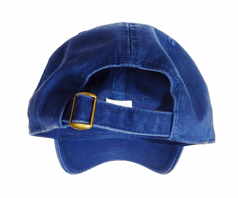 REALTOR® back of Blue Hat For Sale, shows metal buckle