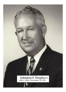 1954 to 1955 - Johnston F. Peeples