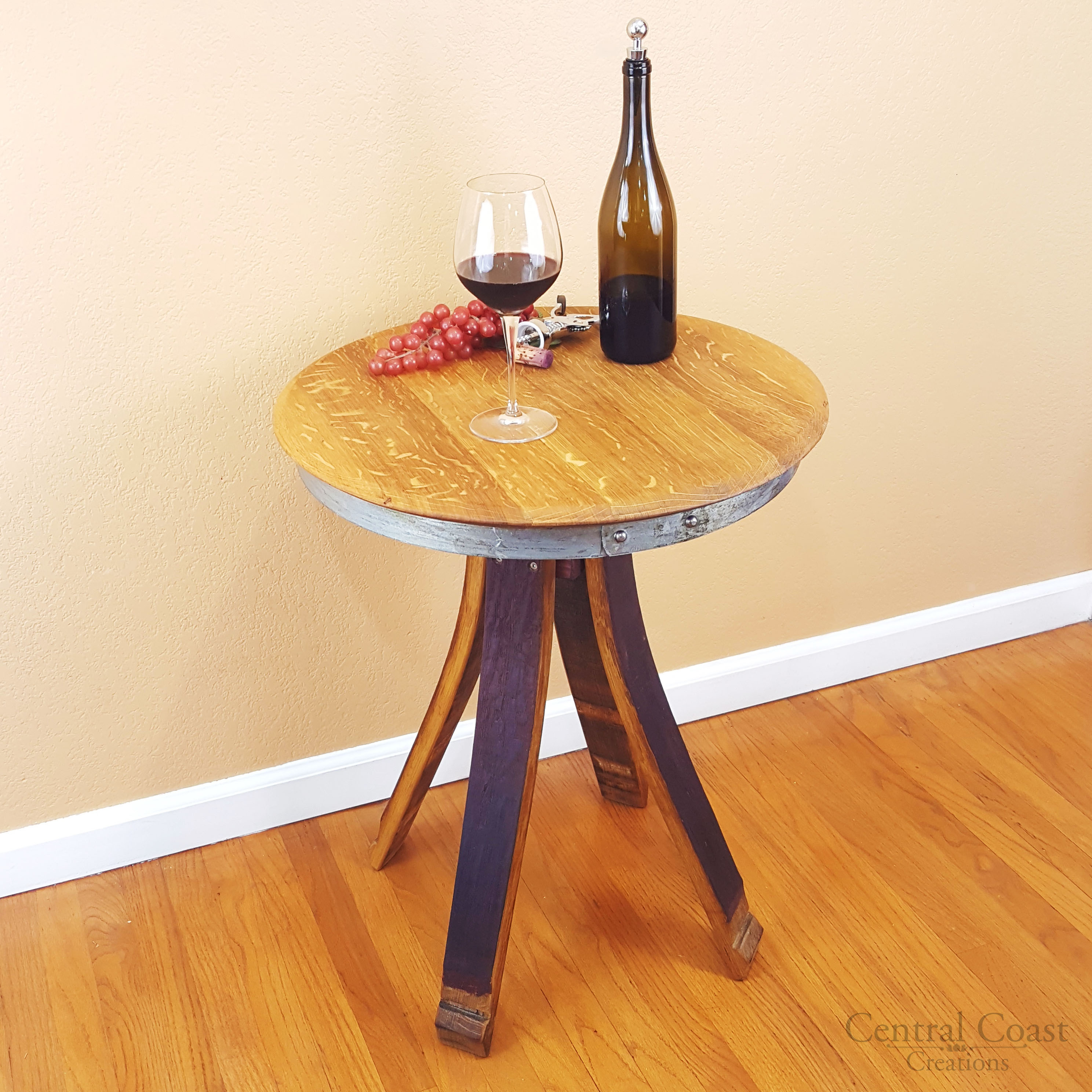 Inverted Leg Wine Barrel Table Central Coast Creations