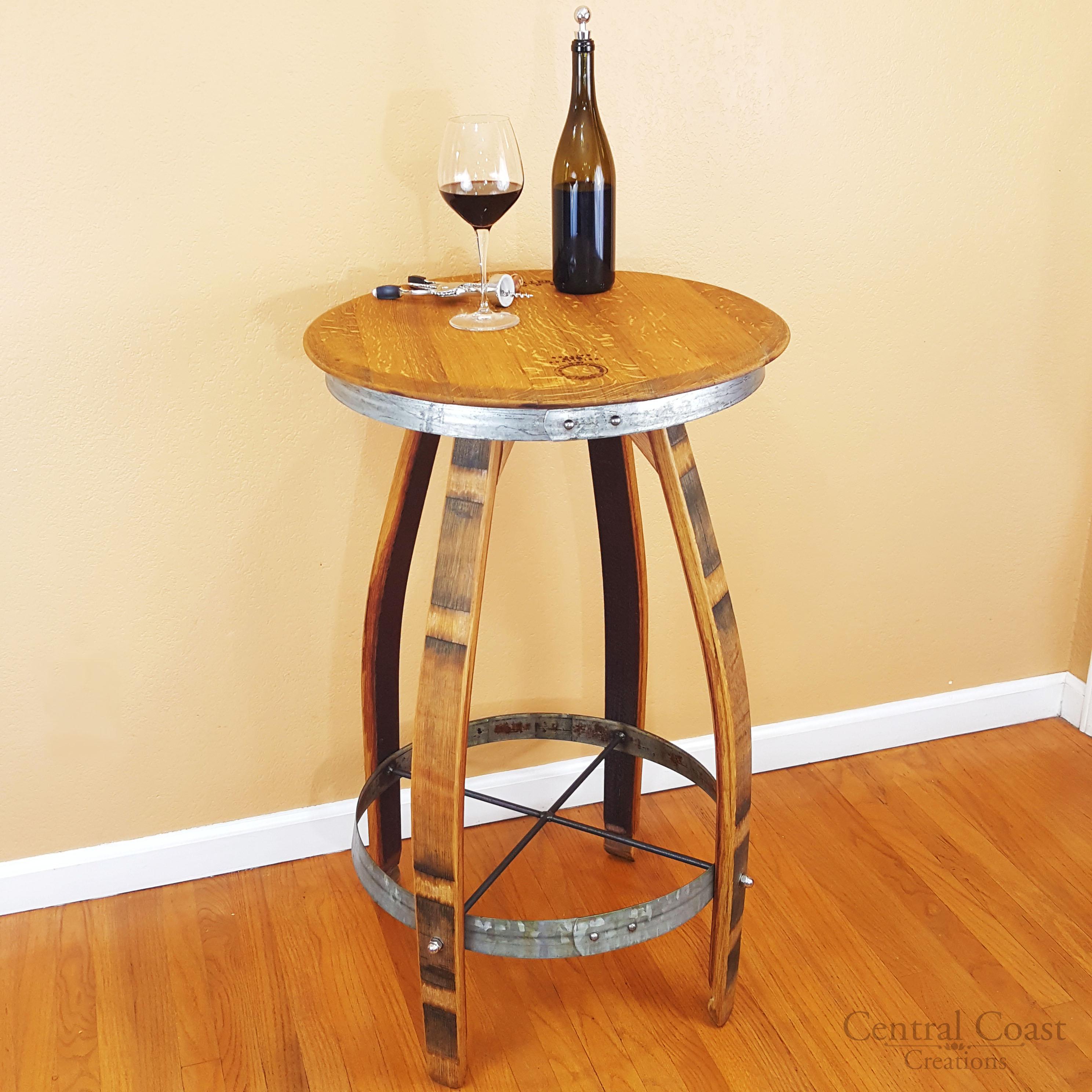 Wine Barrel Pub Table - Central Coast Creations