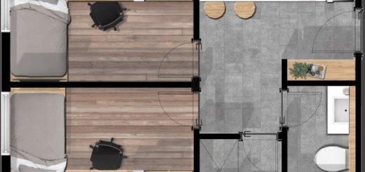 Torre Bacerlona plano Venta alojamiento para estudiantes