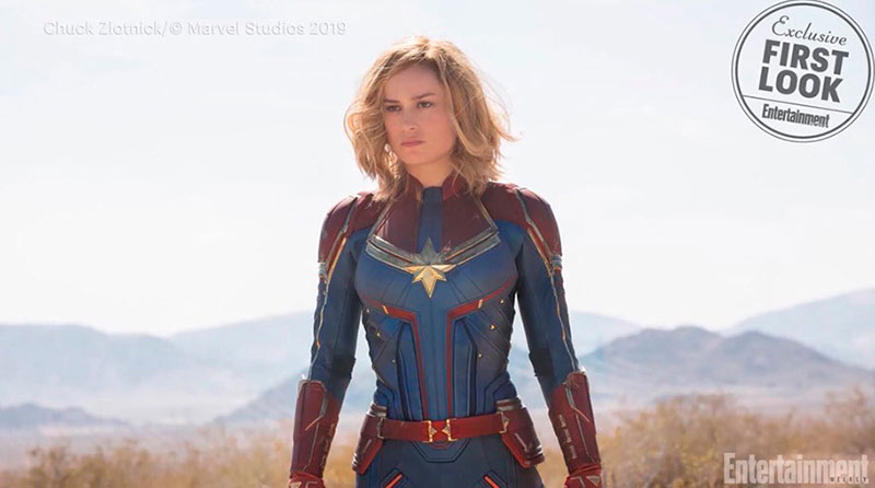 Brie Larson traje Capitan Marvel