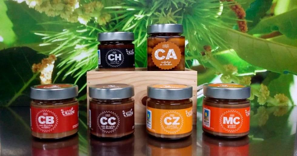 Souto da Trabe mermeladas ecologicas Mermelada Ecológica Gourmet de Castañas y Higos Souto da Trabe, tarro 265 gr