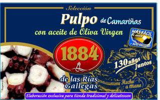Conservas 1884 Pulpo en aceite de oliva virgen lata 125 gr