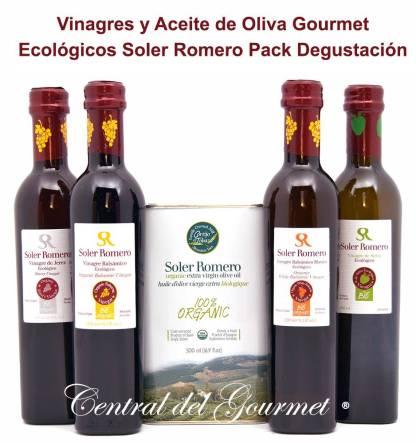 Pack Gourmet Soler Romero Ecológico Aceite y Vinagres