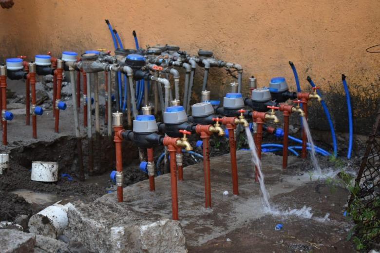 agua potable en la unidad habitacional La Rosa 02