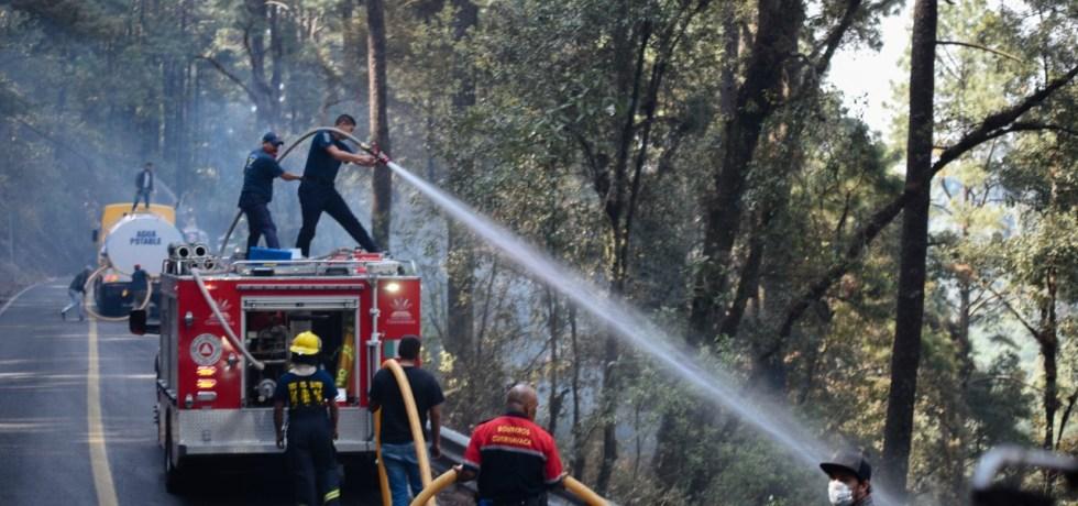 Afecta incendio en Huitzilac 357 hectáreas de bosque