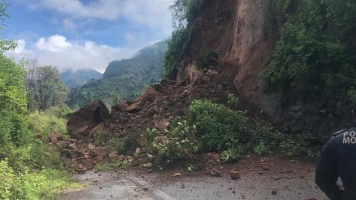 Afectaciones por lluvias en Morelos
