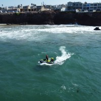 Buscan a un niño que cayó al mar en Playa Cabo Delfín de Rosarito