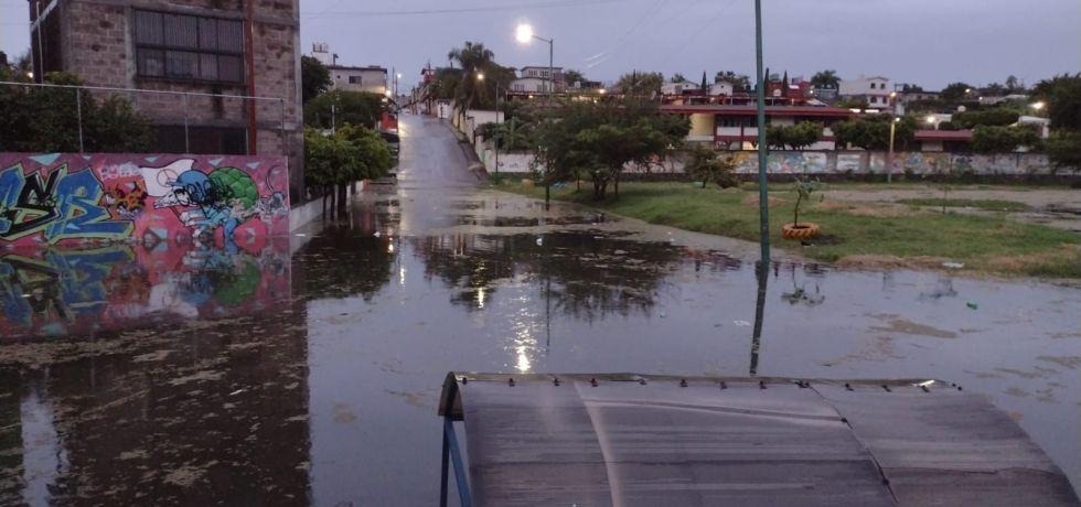 Afectaciones por lluvias en Jiutepec