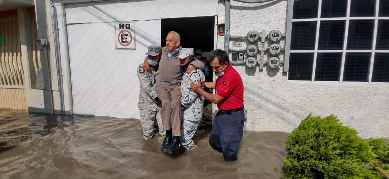Desalojo de damnificados en Hidalgo