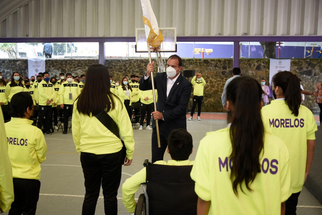 Abandera Cuauhtémoc Blanco a deportistas rumbo a los Juegos Paranacionales Conade 2021