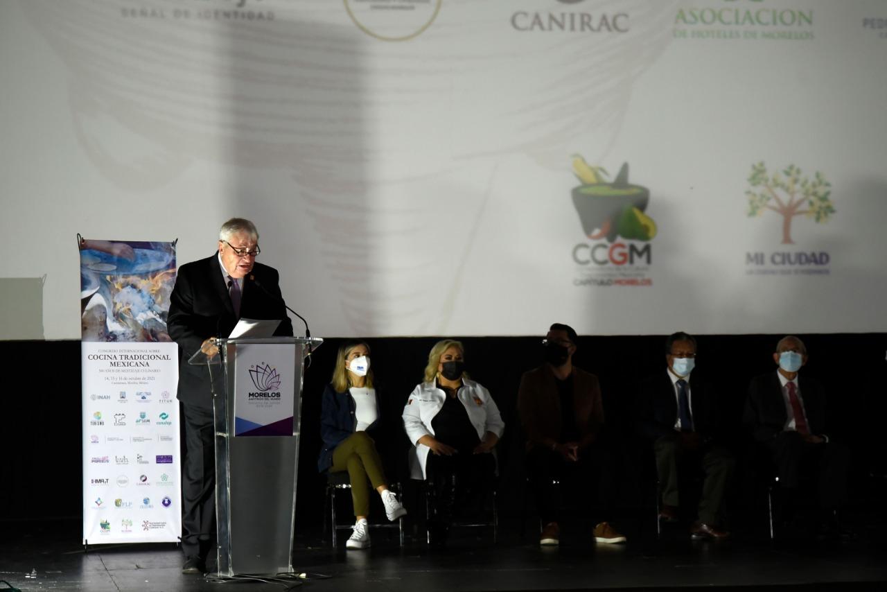 Inaugura José Manuel Sanz Congreso Internacional sobre Cocina Mexicana