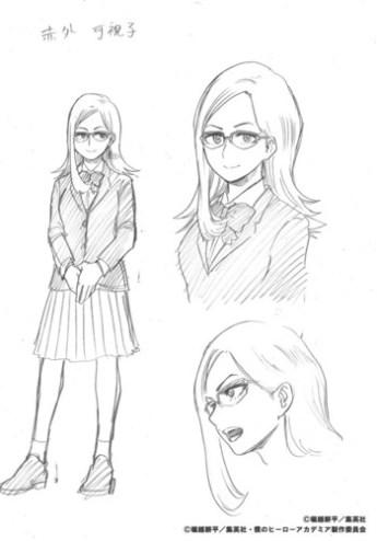 Kashiko Sekigai en traje normal y traje de heroína Chica Sensor
