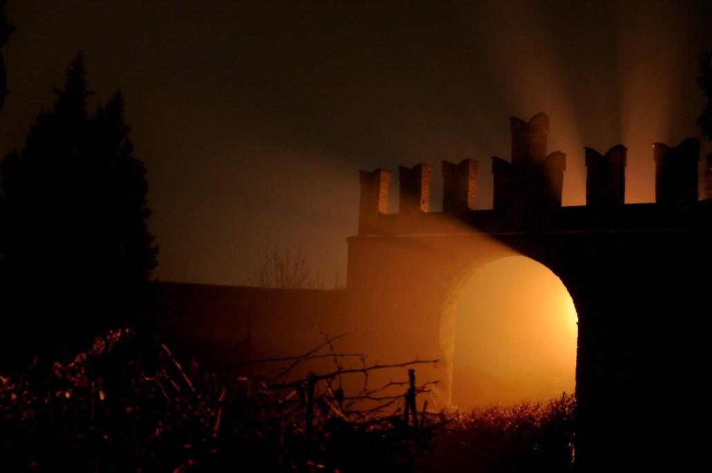 La porta d'ingresso alla Rocca dei Bentivoglio