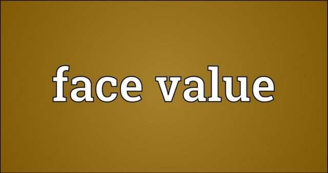 face value definition
