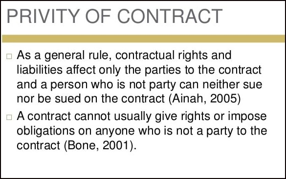 privity of contact