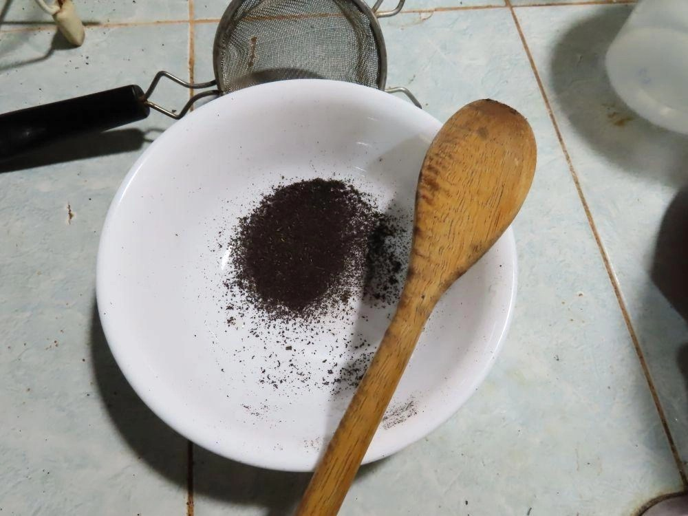 sifted powder ready to store